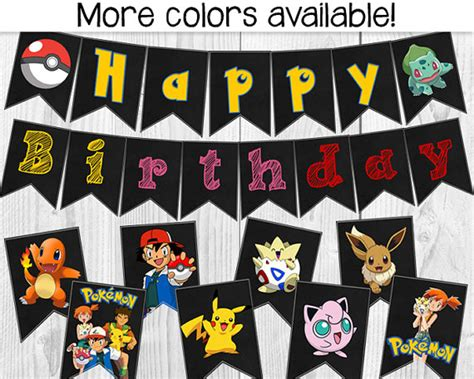 happy birthday banner flags decorations