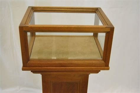 Display Pedestals For Sale pair of solid cherry museum display pedestals for sale at