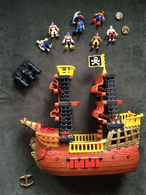 sw boat adventures fisher price imaginext adventures pirate ship w