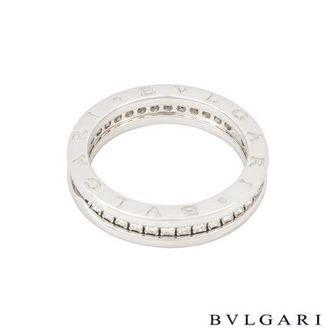 bvlgari 18k white gold set b zero1 ring an850656