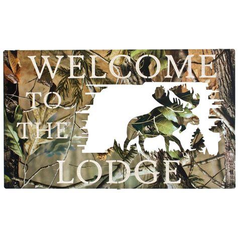 cheap camo home decor lazart 174 camo welcome to the lodge wall art 208046 wall