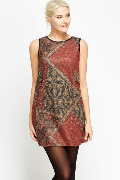 Set Sleeveless Dress Printed Dress geo printed mini sleeveless dress 3 colours just 163 5