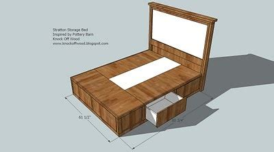 ana white queen sized storage bed diy projects