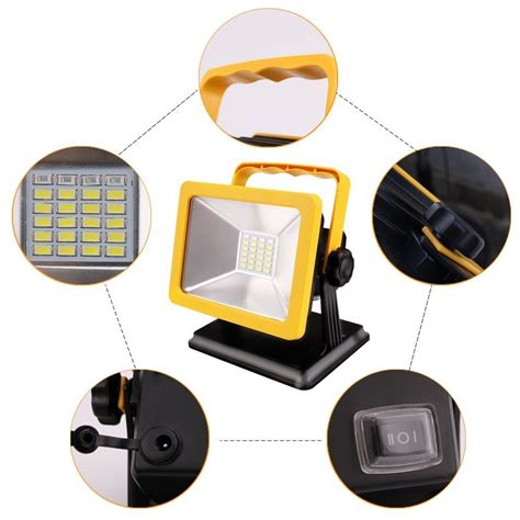 battery powered work lights rechargeable battery powered led work light w h lighting
