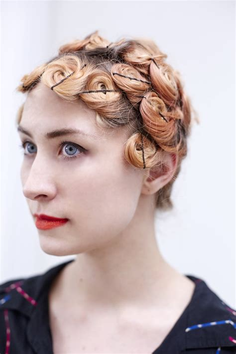 short pincurl hairstyles how to do pin curls popsugar beauty