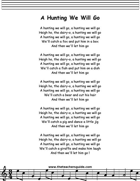 go go pdf a we will go lyrics printout midi and