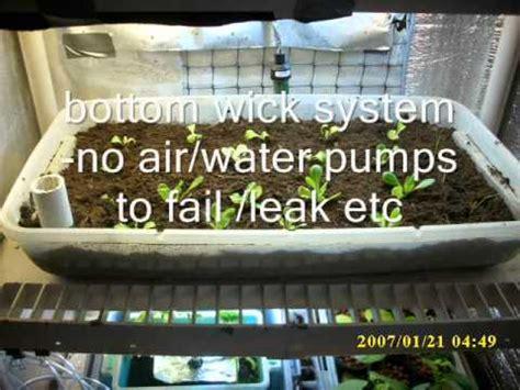 indoor bottom wick system garden aka  watering