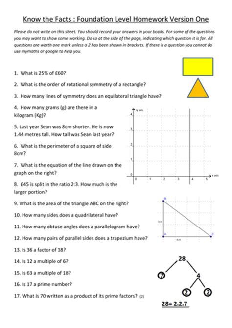 81 revision v1 gcse foundation maths revision worksheets by gazzam teaching resources tes
