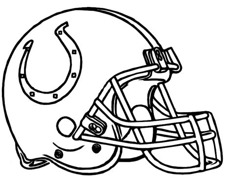 Indianapolis Colts Helmet Coloring Page   colts indianapolis helmet coloring pages coloring pages