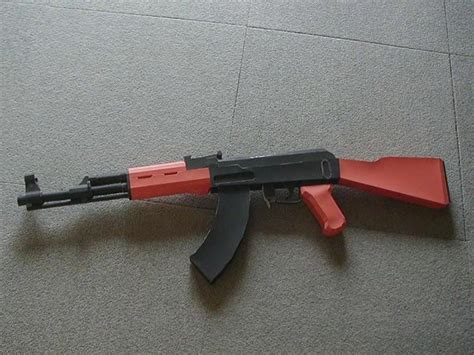 How To Make A Paper Gun Ak 47 - how to make a paper model gun 9