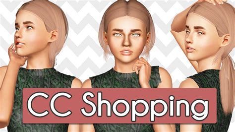 sims 3 custom content hair sims 3 custom content shopping hair clothes youtube