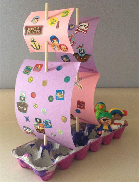 Pirate Ship Papercraft - pirate ship craft egg craft montague rotary