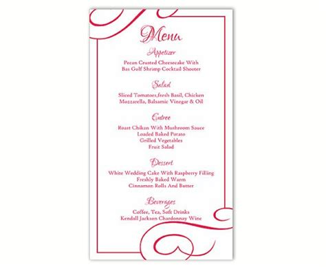 Publisher Menu Card Templates by Menu Template Word Free The Best Home School