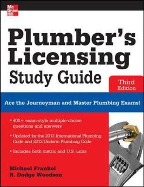 Plumbing Journeyman License by Plumber S Licensing Study Guide R Dodge Woodson