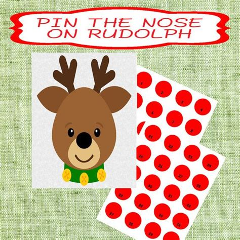 pin the nose on rudolph template pin the nose on rudolph template search results