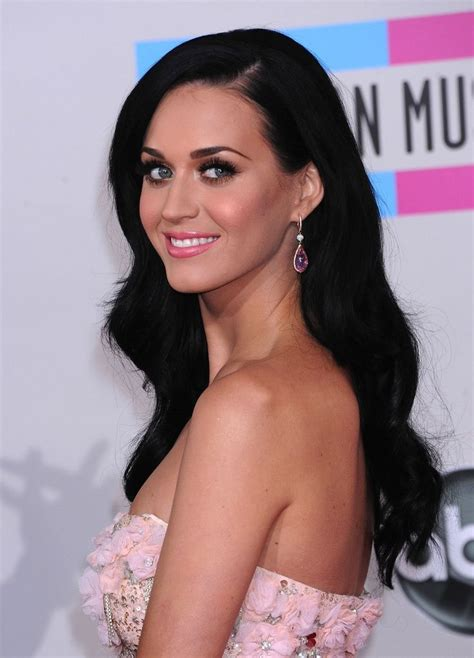 black hairstyles with color hair color jet black waves katy perry beautiful