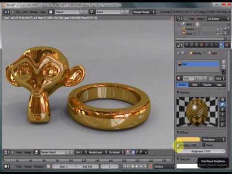 blender 3d jewelry tutorial blender 2 53 realistic gold ring tutorial youtube