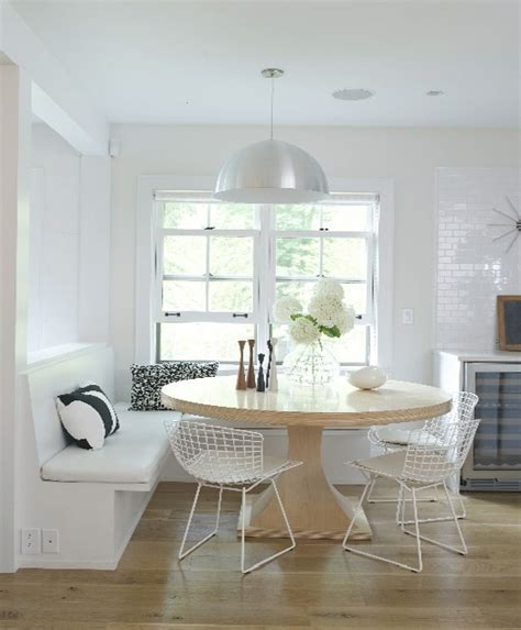 round kitchen table with bench seating breakfast nook welcome home someday pinterest