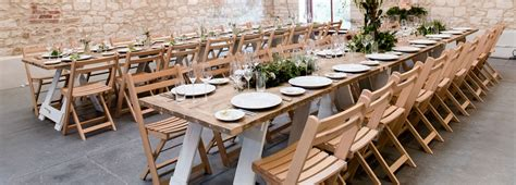 rustic table and chairs hire furniture hire taddle farm tents