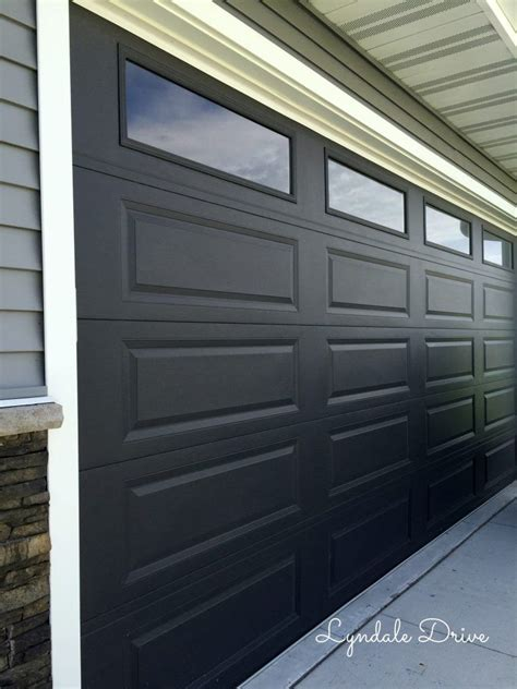 curb appeal tixeretne painting garage door black paint garage entry door black
