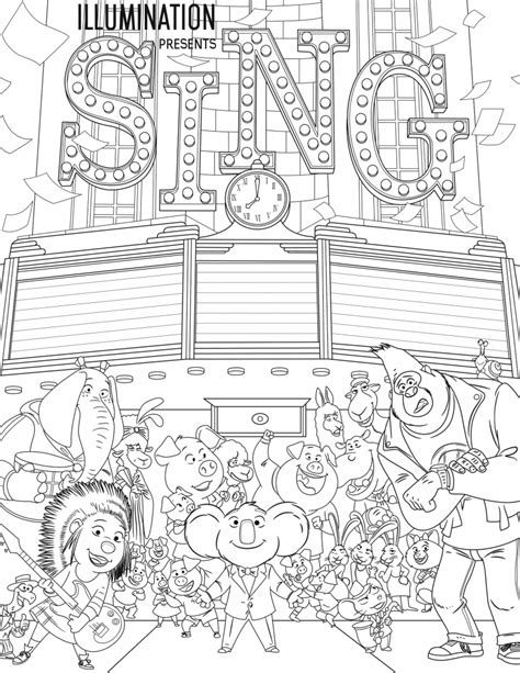 free coloring pages for sing coloring pages best coloring pages for