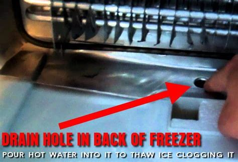 Kitchenaid Refrigerator Drain How To Repair A Freezer Water Into Refrigerator