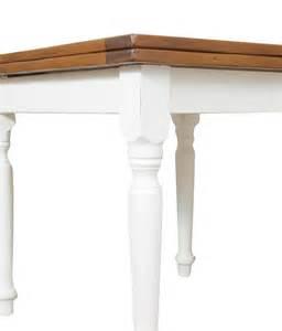 tavolo quadrato allungabile legno tavolo pranzo quadrato allungabile bicolore stile country