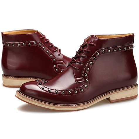 mens patent leather boots italian fashion patent leather ankle oxford boots mens