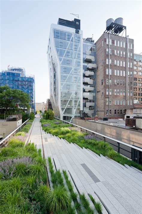 chelsea section of manhattan section 2 of the high line now open in new york