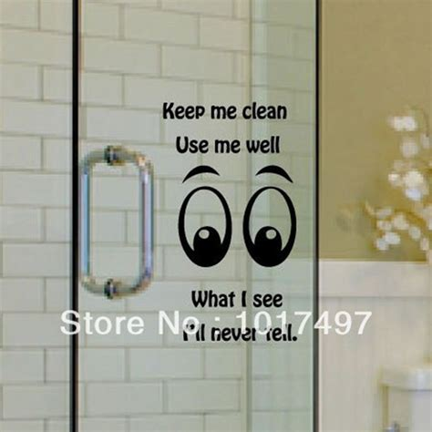 bathroom glass stickers funny glass wall decal stickers family toilet bathroom