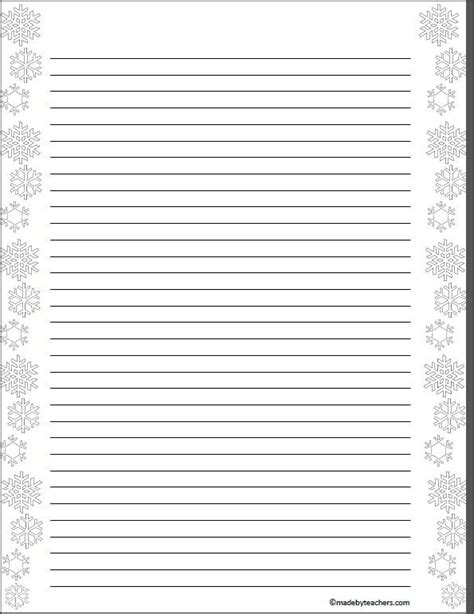 snowflake writing template search results for snowflake lined paper free calendar