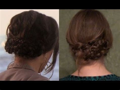 gossip girl hairstyles how to in a pinch braided updo cute hair for lazy days youtube