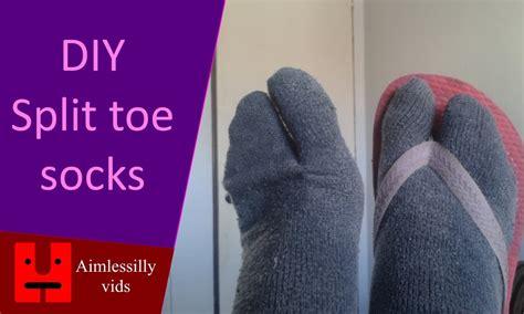 diy out of socks diy split toe socks out of socks