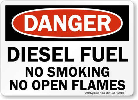 fuel storage no smoking sign osha danger sku s 1846 diesel fuel no smoking no open flame osha danger sign