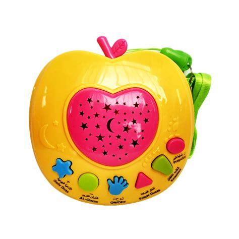 jual mainan edukasi anak muslim apple learning quran kuning harga kualitas terjamin
