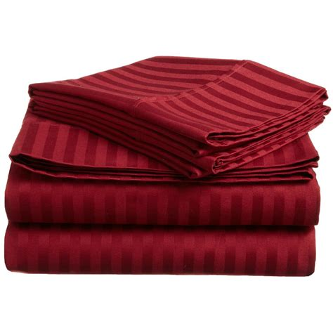 what is the highest thread count egyptian cotton sheets 300 tc cal king sheet set egyptian cotton stripe burgundy