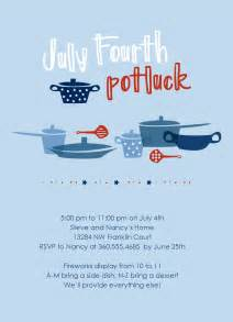 potluck menu template 4th of july potluck invitation