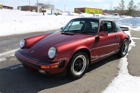 porsche velvet buy used 1989 porsche 911 targa g50 velvet 86 075
