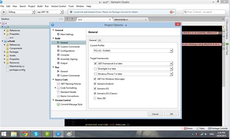 xamarin layout resource could not be found could not add xamarin forms the type or namespace name