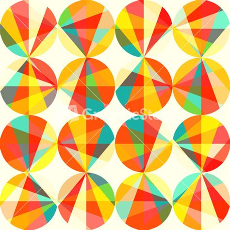 vintage geometric pattern vector geometric pattern of circles and triangles colored