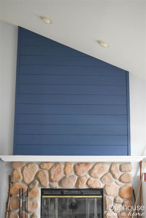 blue fireplace how to create a fireplace wood feature wall a modern