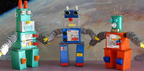 robot reciclado manualidades infantiles como hacer un robot reciclado como hacer robots con cajas de caramelos info taringa