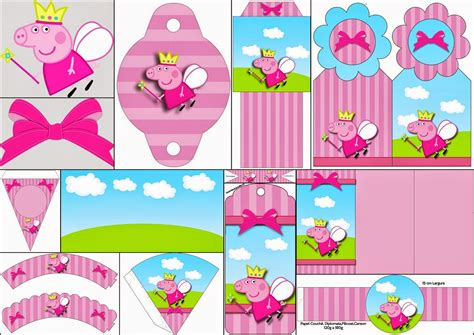 printable peppa pig party decorations peppa pig fairy invitations and free party printables
