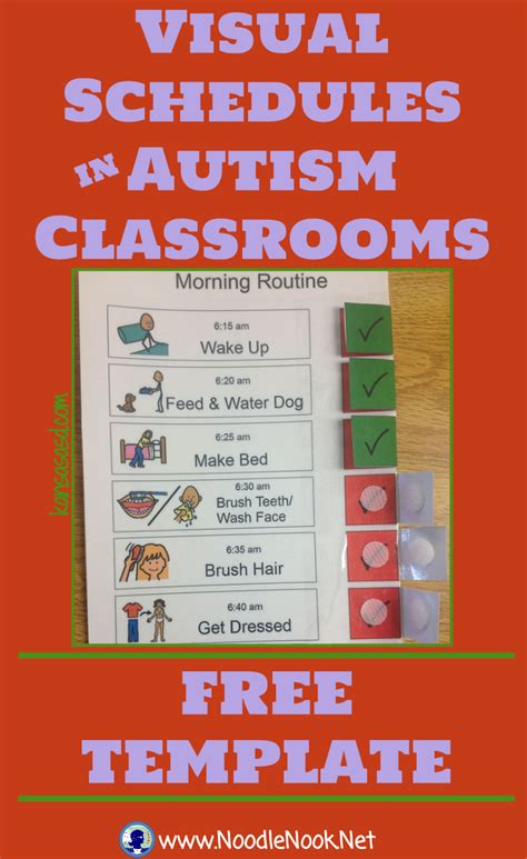 printable daily schedule for autistic child visual schedules in autism classrooms visual schedules
