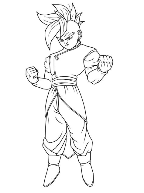 Dragon Ball Z Kai Coloring Pages To Print | free coloring pages of gohan dragon ball z kai