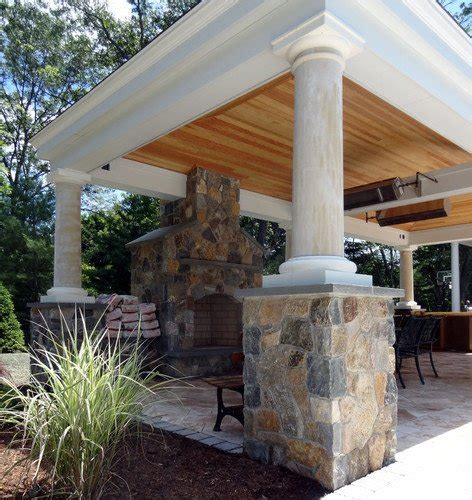 Foundation For Outdoor Fireplace by Outdoor Open Fireplace Deck Design And Ideas