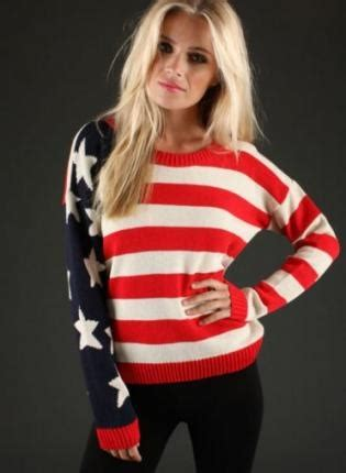 this american flag sweater on the hunt