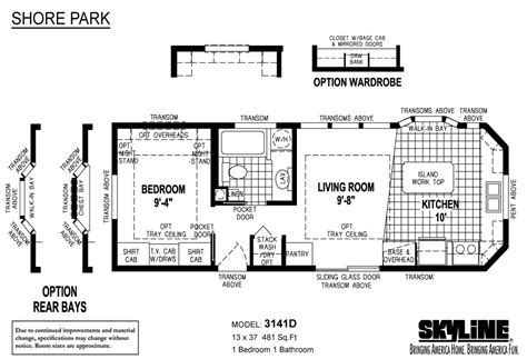 park model homes floor plans shore park 3141d by royals mobile home sales