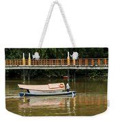 Tote Bag Kucing boat taxi in kuching photograph by brian krath
