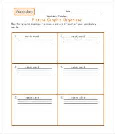 graphic organizers template word blank vocabulary worksheet templates free